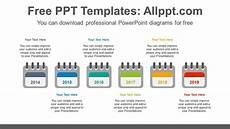 Calendar Template Powerpoint 6 Calendars Powerpoint Diagram Template