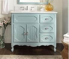 42 inch bathroom vanity vintage style light blue
