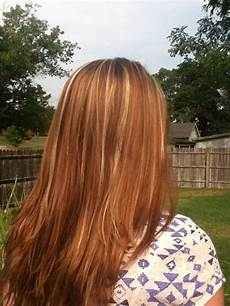 Light Brown Hair With Strawberry Highlights Brown Hair With Strawberry Amp Carmel Highlights