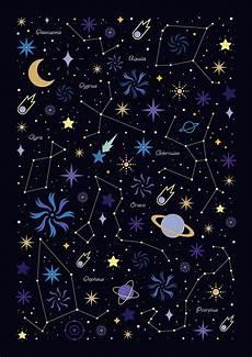 Star Constellation Designs Watts Illustration Starry Night Space