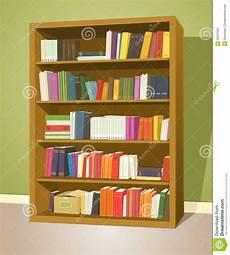 scaffale per libri scaffale per libri delle biblioteche illustrazione