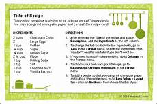 recipe card template word 2007 free printable recipe card template for word
