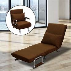 homcom 26 quot convertible single sleeper chair bed brown
