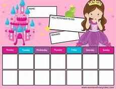 Youtube Girl Chart Princess Reward Chart Printable Woman Of Many Roles