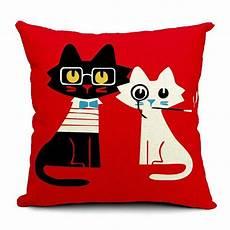 cat design decorative pillow cover 43cm x 43cm 2