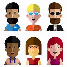 conjunto de pessoas trabalhando desenho animado avatar