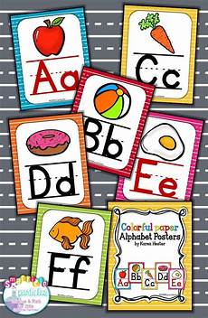 Colorful Poster Ideas Alphabet Posters Colorful Alphabet Cards Alphabet