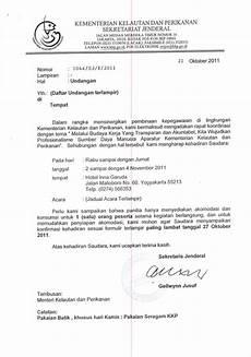 contoh surat undangan menjadi peserta contoh isi undangan
