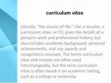 Cv Meaning Resume Curriculum Vitae Definition What Does Curriculum Vitae