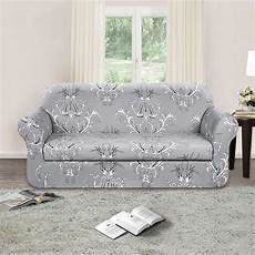 2 Sofa And Loveseat Slipcover 3d Image by Tikami 2 Spandex Printed Fit Stretch Sofa Slipcovers