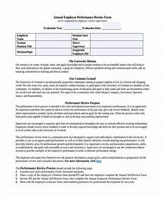 Employee Performance Review Sample Free 20 Sample Employee Review Forms In Pdf Ms Word