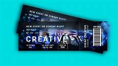 Design Event Tickets Online How To Design Event Ticket In Photoshop Tutorial Youtube