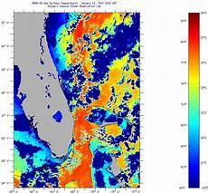 Sst Charts Rutgers Florida Coast Sea Surface Temperatures Friday January 13