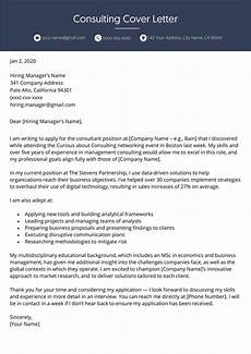 How To Cover Letter Consulting Cover Letter Professional Example Resume Genius