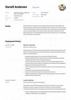 Compiling A Resume Carpenter Resume Amp Writing Guide 12 Resume Examples 2020