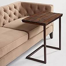 Sofa Slide Table 3d Image by Wood Laptop Table For Recliner And Sofa