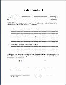 Sale Contract Samples Free Printable Sale Contract Form Generic