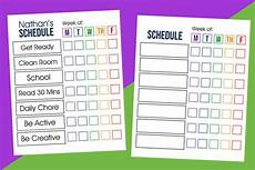 Printable Daily Schedule Kids Kids Daily Schedule Printable Over The Big Moon