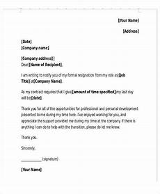 Resignation Letter Layout New Job Resignation Letter Template 9 Free Word Pdf