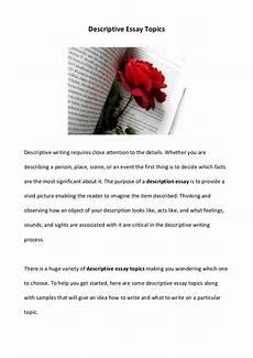 Essay On A Movie Descriptive Essay Topics