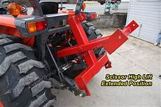 Fred Cain Tractor 3 Point Hitch Scissor High Lift Hay Lift