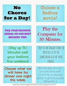 Coupon Chart Mama Gets It Done Chore Chart And Reward Coupons