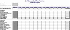 Sample Cash Flow Projection For Small Business Cash Flow Projection Template Cash Flow Flow Chart