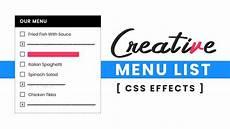 Custom Checkbox Design Css Creative Restaurant Menu List Html Css Custom