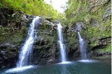 tropical island waterfalls image of america