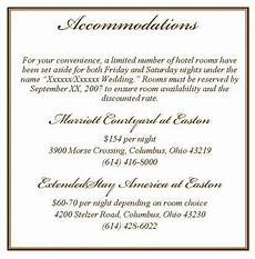 How To Word Hotel Accommodations For Wedding Invitations Accomodation Card Wording Wedding Accomodation Cards
