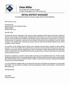 Cover Letter Retail Manager Retail District Manager Executive Cover Letter