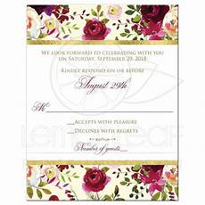 Watercolor Wedding Cards Beautiful Burgundy Watercolor Floral Wedding Response Card