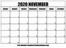November 2020 Calendar Printable Free Printable November 2020 Calendar