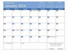 Templates By Vertex42 Com An Easy To Edit 2014 Calendar Template For Excel