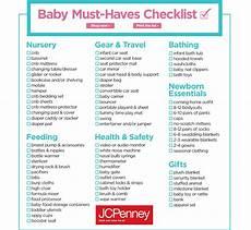 Baby Stuff Checklist Baby Must Haves Checklist