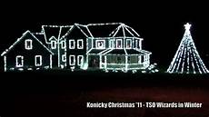 Wizards In Winter Christmas Lights House Konicky Christmas Lights 2011 Wizards In Winter Youtube