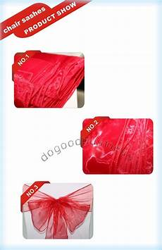 2019 red organza chair sashes bow cover banquet wedding