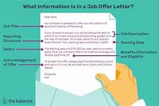Skills To Offer An Employer What Is Included In A Job Offer Letter With Samples