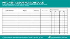 Kitchen Duty Chart Kitchen Equipment Cleaning Schedule