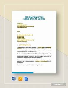 Resignation Letter Going Back To School Free 45 Resignation Letter Templates In Ms Word