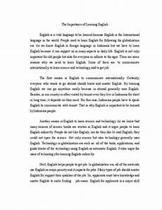 English Essay Importance Of Education Doc Essay The Importance Of Learning English Zaara