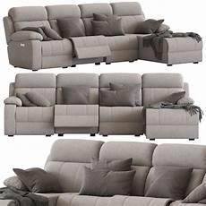 4 Sofa 3d Image by 3d Model 4 Seater Modular Sofa With Chaise And Foot Lift