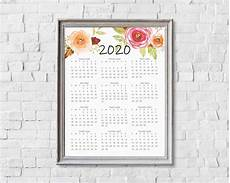 at a glance calendar 2020 2020 year at a glance calendar printables by cottonwood