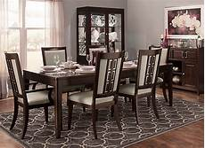 raymour and flanigan dining room sets cadence 7 pc dining set merlot raymour flanigan