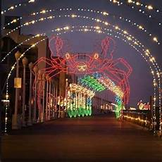 Boardwalk Lights At Virginia Beach Christmas Lights At The Beach Drive On The Boardwalk To