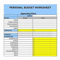 Personal Budgeting Spreadsheet Template Free 7 Personal Budget Samples In Google Docs Google