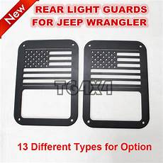 Rear Light Cover Black Red Steel Light Guards Covers For Jeep Wrangler