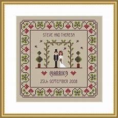Free Wedding Cross Stitch Patterns Charts The Wedding Marriage Cross Stitch Chart Little Dove