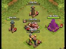 Barbarian King Upgrade Chart Clash Of Clans Upgrade Barbarian King To Lvl 9 Dark