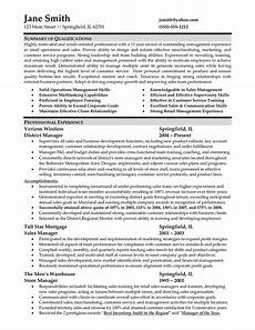 Cv Of Store Manager Sample Resume For Retail Management Job Retail Store
